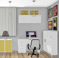 Ateliê e home office da Suellen