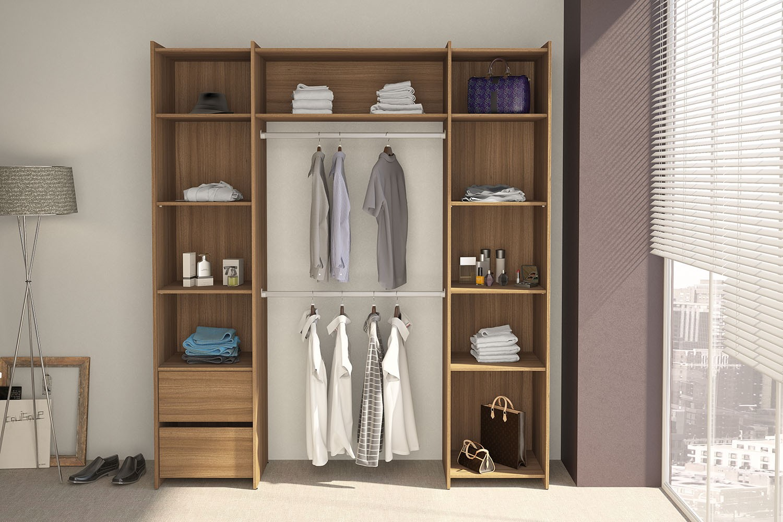 Closet diamante 2 gavetas e 2 cabideiros politorno for Closet blanco pequeno